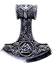 Kiss of Leather 382 - Colgante de martillo de Thor, plata de ley 925