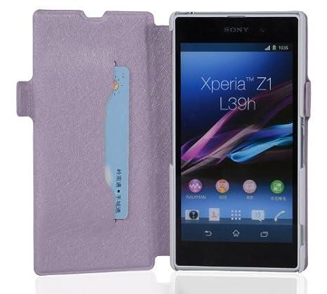 Cadorabo - Funda Book Style en Diseño FINO para Sony Xperia Z1 (L39h) – Etui Case Cover Carcasa Caja Protección con Tarjetero y Función de Soporte en ...