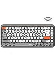FELiCON Bluetooth Keyboard 2.4 GHZ Draadloze Compact Lichtgewicht Toetsenbord, Retro stijl, Matte Textuur, 84 toetsen, Compatibel met Android en andere apparaten, Geschikt voor Home en Office Keyboards, Gary