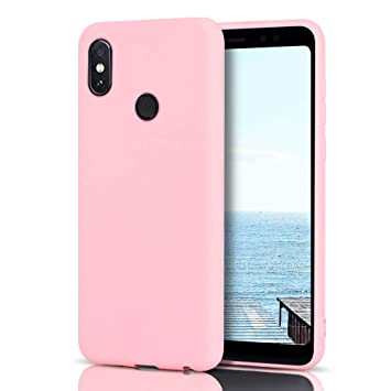 MoEvn Funda Xiaomi Redmi Note 5 Silicona, Rosa Redmi Note 5 Carcasa Mate Case Cover TPU Suave Slim Anti Skid Anti Rasguño Candy Color Gel Funda para ...