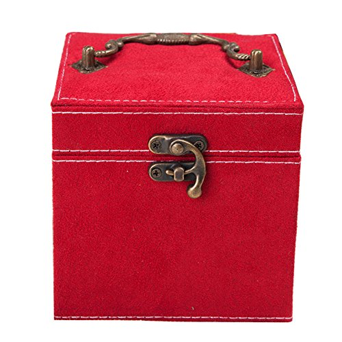 Jewelry Box Vintage Square Jewelry Organizers Case with Copp