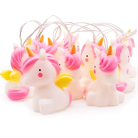 new arrivals 67bc0 a1ce7 Unicorn String Lights,MMTX LED Cute PVC Animal Rope Lamp,Funny String  Lights Indoor Fairy Lights Unicorn Home Decorations Light for Baby Kids  Bedroom ...