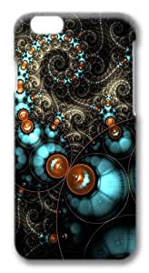 Fractal Circles Polycarbonate Hard Case Cover for iphone 5C inch 3D