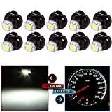 CCIYU 10X White T4/T4.2 Neo Wedge LED Climate Control Light Bulbs for 1998-2010 Honda Accord/ Odyssey /Civic
