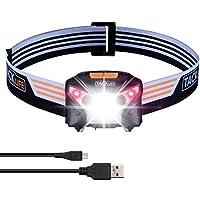 Tacklife USB Rechargeable Headlamp Flashlight