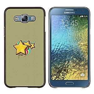 For Samsung Galaxy E7 E700 Case , Cara abstracta- Diseño Patrón Teléfono Caso Cubierta Case Bumper Duro Protección Case Cover Funda