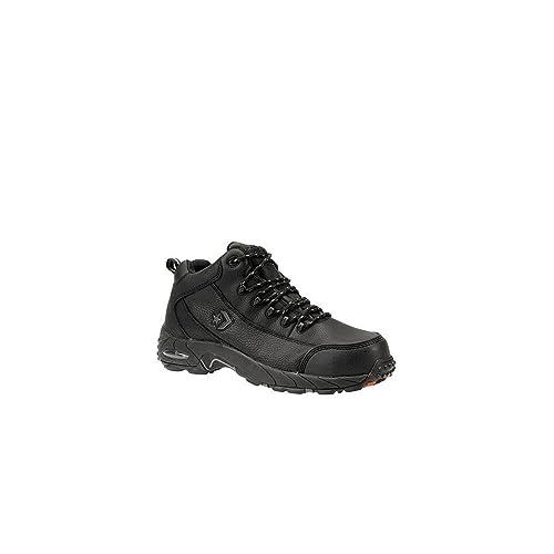 2ec75b47882 Reebok Mens Black Leather Work Shoes Postal Express Goretex Oxfords