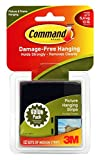 Command Medium Picture Hanging Strips, Black, 35-Picture