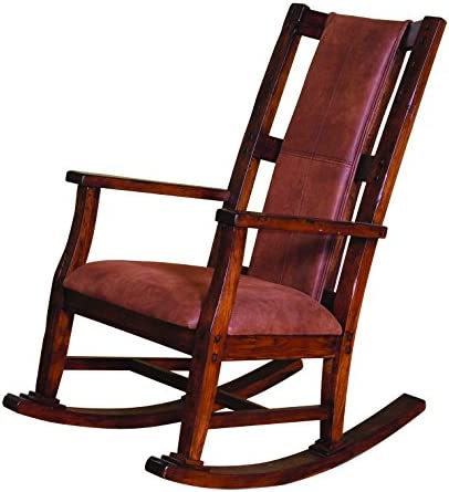 Sunny Designs Santa Fe Rocker with T-Fabric Seat and Back, Dark Chocolate Finish