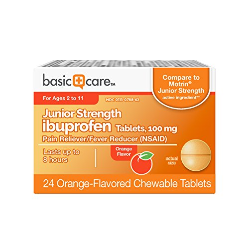 - Basic Care Junior Strength Ibuprofen Tablets, 100mg, 24 Count