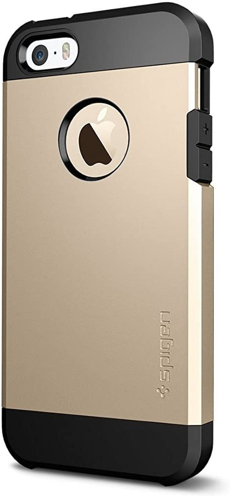 Spigen Tough Armor Designed for Apple iPhone 5S Case (2013) / Designed for iPhone 5 Case (2012) - Champagne Gold