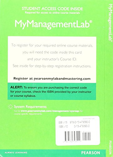 2017 MyLab Management with Pearson eText -- Access Card -- for Fundamentals of Management (Mymanagementlab)
