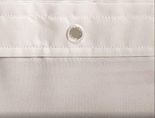100 /% Poliester Impermeable Anti-Moho Antibacterias Cortina ba/ño Textil 180 x 200 cm CUCOS NEST Cortina de ducha Brest Gris