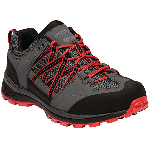 Regatta Lady Samaris II Low Rise Hiking Boot, Zapatillas de Senderismo para Mujer Gris (Dark Steel/Red Alert 776)