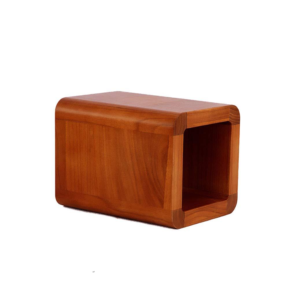 Chairtu Piccolo Sgabello Cambio scarpiera Stile Giapponese casa Creativo Legno Massiccio, B, 24  24  32cm