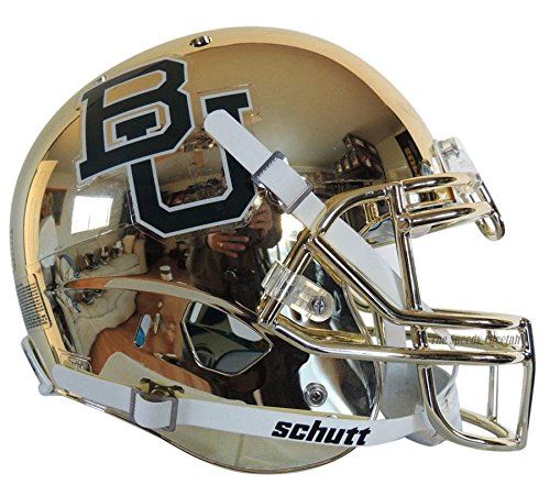 NCAA Baylor Bears Chrome Authentic Helmet, One Size, White by Schutt