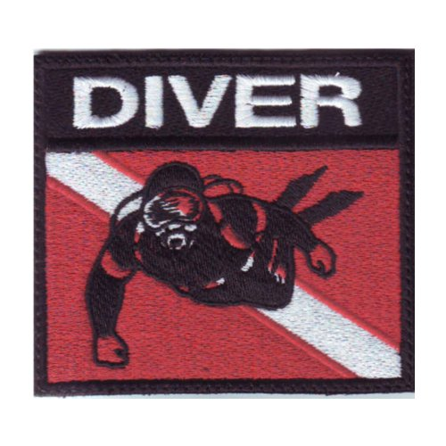 Scuba-Diver-Badge-Flag-Embroidered-Sew-On-Patch