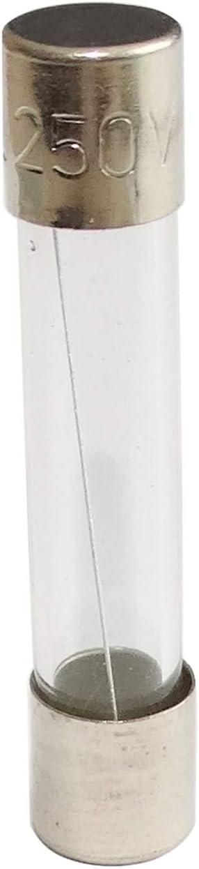 10x fusible Lent retard/é temporis/é en Verre 3.2cm 0.8A 800mA 250VAC 6.3x32mm C42312 AERZETIX