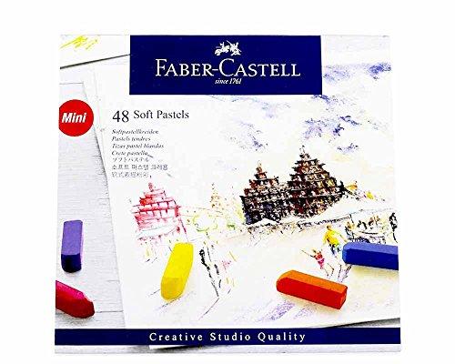 Faber-Castel FC128248 Creative Studio Soft Pastel Crayons (48 Pack), (Pastel Stone)