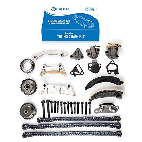 (ECCPP TK10436L Fits 07-13 Buick Pontiac Cadillac SRX STS Saab Suzuki 2.8 3.0 3.2 3.6 DOHC Timing Chain Kit (2nd Design))