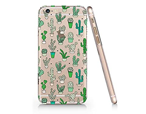 Cactus Pattern Slim Iphone 6 6S Case, Clear Iphone 6 6S Case Plastic Hard Case Unique Design-Quindyshop (One Direction 5sos Iphone 6 Case)