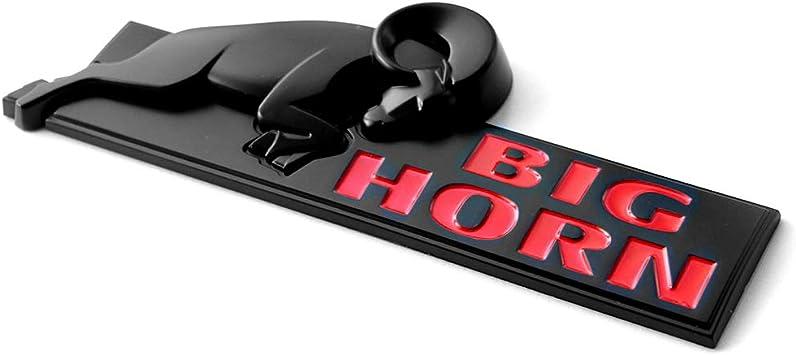 2x Black OEM BIG HORN Emblem BIGHORN Badge Ram 1500 2500 3500 1Y Mopar Matte