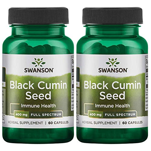 Swanson Full Spectrum Black Cumin Seed 400 Milligrams 60 Capsules 2 Pack (Full Spectrum Black Cumin Seed)