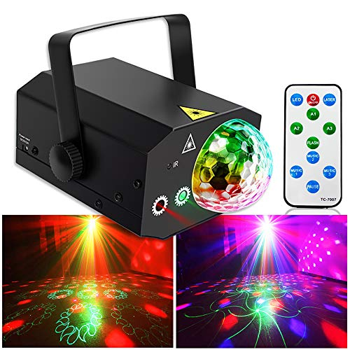 Party Lights Disco Ball Lights TONGK Dj Disco Lights LED Stage Light Projector Strobe lights Sound Activated with Remote Control for Xmas Club Bar Parties Holiday Dance Christmas Birthday Wedding for $<!--$48.99-->