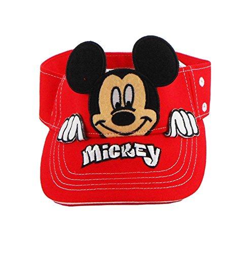 - Disney Authentic Mickey Mouse Peeking Boys Sun Visor Red