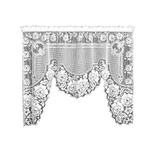 Heritage Lace Victorian Rose 60-Inch Wide by 48-Inch/34-Inch Drop 1-Piece - Drop In 48