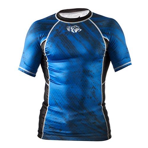 Peresvit Rash Guard Men Short Sleeve Immortal Silver Force MMA With AG+ Fabric – DiZiSports Store