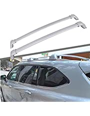 Titopena Roof Rack Cross Bars fit for 2020 2021 Toyota Highlander XLE & Limited & Platinum Aluminum Cross Bar Replacement for Rooftop Cargo Carrier Bag Luggage Kayak Canoe Bike Snowboard Skiboard