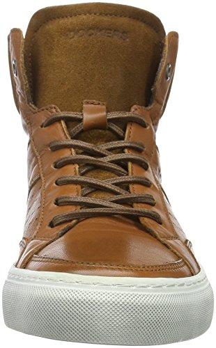 Dockers by Gerli 39po004-102470, Men's Low-Top Sneakers Brown (Cognac 470)
