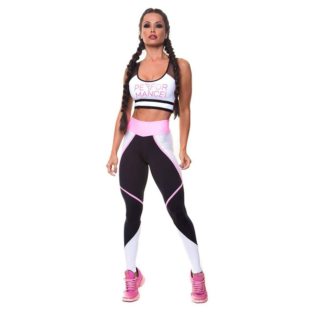 Women's Sports Suit 2 Piece Tracksuit Casual Sports and Leisure Suits Women's Vest Trousers Sports Yoga Fitness Suit Ladies Fitness Yoga Running Sportswear (Size   L)