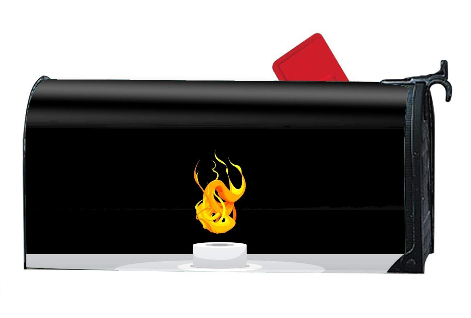 MALBX Artistic Fire Magnetic Mailbox Cover