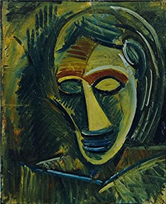 Oil Painting 'Pablo Picasso-Woman's Head,1908' Printing On Perfect Effect Canvas , 12x15 Inch / 30x37 Cm ,the Best Living Room Gallery Art And Home Decor And Gifts Is This Vivid Art Decorative Prints On Canvas