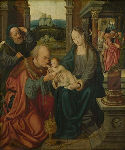 - Oil Painting 'After Joos Van Cleve - The Adoration Of The Kings,probably 1525-50' Printing On High Quality Polyster Canvas , 20x24 Inch / 51x61 Cm ,the Best Laundry Room Artwork And Home Decoration And Gifts Is This Best Price Art Decorative Prints On Canvas