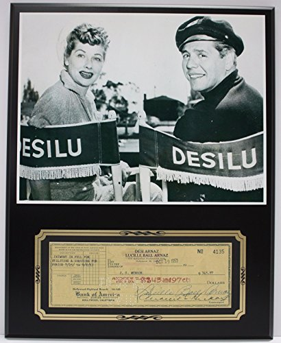 LUCILLE BALL LUCY SHOW REPRODUCTION SIGNED LIMITED EDITION CHECK DISPLAY