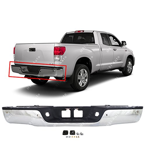 MBI AUTO - Chrome Steel, Complete Rear Bumper Assembly for 2007 2008 2009 2010 2011 2012 2013 Toyota Tundra Pickup 07-13 W/Park, TO1103116 ()
