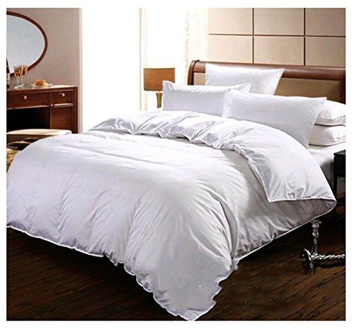 100% Cotton Duvet Cover 3 Piece Hotel White Duvet Cover Set