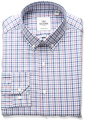 ben-sherman-mens-gingham-buttondown-collar-dress-shirt-multi-165-neck-34-35-sleeve