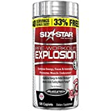 Six Star Pre-Workout Explosion Pill, 120 Count