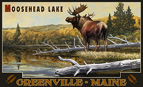 Northwest Art Mall PAL-3233 MOO Moosehead Lake Greenville Maine Moose 11