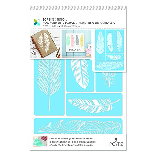 Momenta 30386 Feathers Adhesive Screen (Feather Stencil)