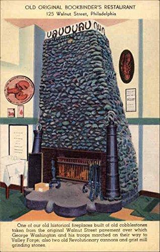 125 Walnut (Fireplace at Old Original Bookbinders, 125 Walnut Street Philadelphia, Pennsylvania Original Vintage)