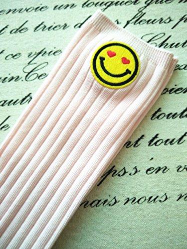 2 Volto bambina alta chiaro Calza 6 cotone Acvip Sock Ginocchio sorridente stampato Rosa in per Child Calza anni motivo con ngPHxwZH