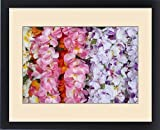 Framed Print of Hawaiian flower garlands display at market place
