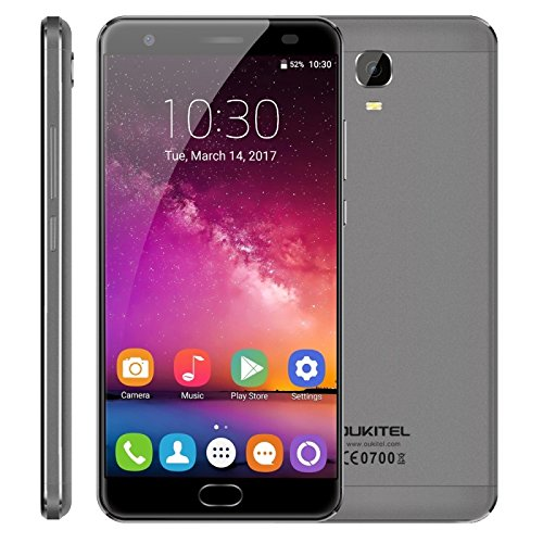 OUKITEL K6000 Plus 4GB RAM 64GB ROM 5.5 Inch Android 7.0 MTK6750T Octa Core Up To 1.5GHz FDD-LTE (Grey)