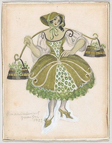 Costume Design for the Shepherdess (Les Tentations de la Berger) Poster Print by Juan Gris (Spanish Madrid 1887