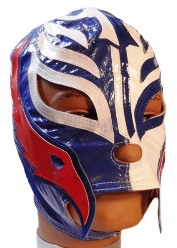 Rey Mysterio Blue Costume (WWE REY MYSTERIO Kid Size BLUE/WHITE Replica MASK)